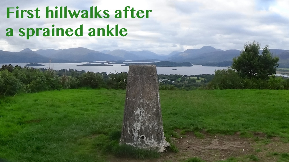 Ulog 18: Conic Hill and Duncryne, first hillwalks since sprained ankle
