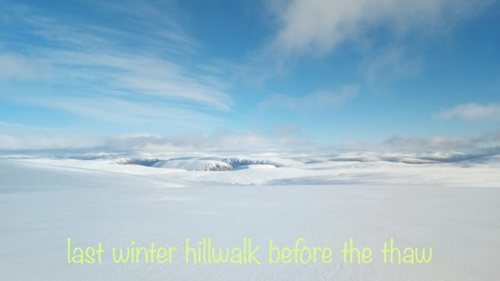 A mountain walk in perfect winter conditions