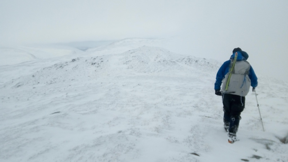 The Cairnwell: first winter hillwalk after a sprained ankle
